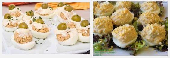 receta de huevos rellenos