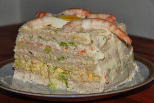 pastel salado terminado