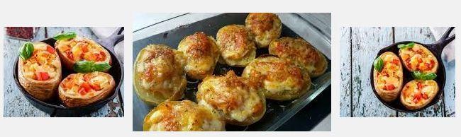 patatas al horno con queso y tomate