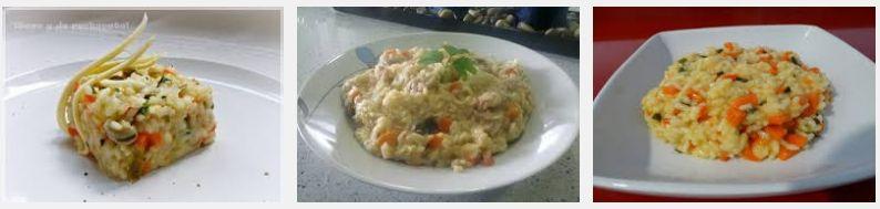risoto de champiñones y verduras