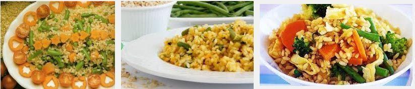receta de arroz integral con verduras